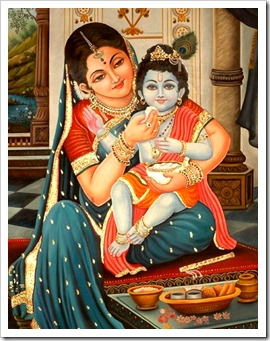 Krishna and Mother Yashoda