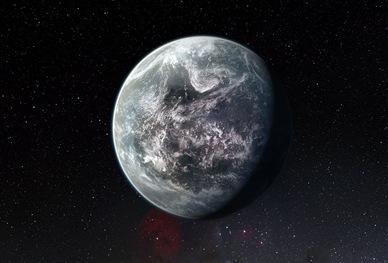ilustração da super-Terra HD 85512 b