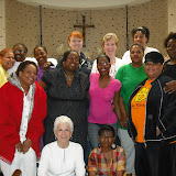 Group photo from April 2010 retreat at Angela House