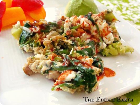 Green Vegetable Egg White Scramble | The Clean Eating Mama