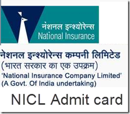 NICL Admit card download for Assistant exam