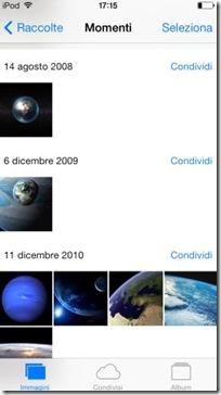iOS 7 foto Momenti