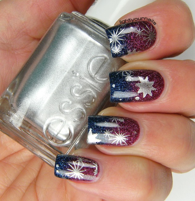 Starry sky stamping with BP-06 plate