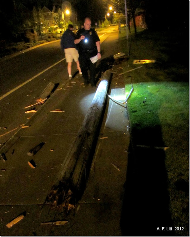 Drunk driver crash and run.  Powell Blvd.  Gresham, Oregon.  May 9, 2012.  12:16 AM.
