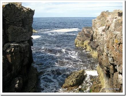 Rocky coastline around Findochty.