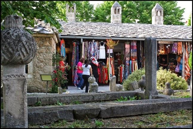 Market at Koski Mehmet Pasha Mosque Mostar