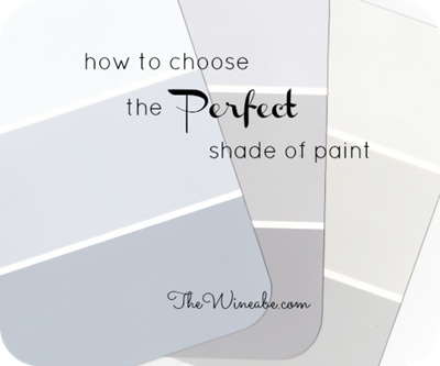 how to choose the perfect shade of paint