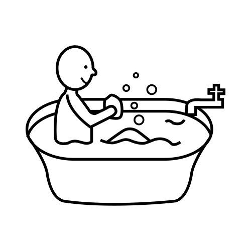 Imagenes De Un Baño Para Colorear:Bathtub Coloring Page