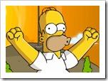 Jogo de chute dos Simpsons