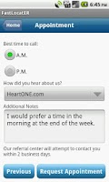 Screenshot of HealthONE Fast LocatER