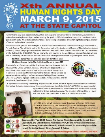10th Annual Human Rights Day at the State Capitol flyer