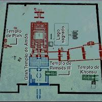 32.-Planta del templo de Amón en Karnak