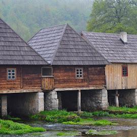 by Gordana Trošić-Kliska - Buildings & Architecture Homes ( mill, wooden, croatia, villages )