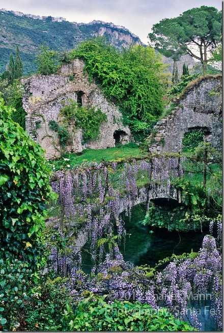 CR NINFA-Italy-Old-Bridge-with-Wisteria-MANN-011
