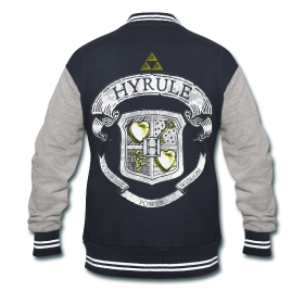 Hyrule Crest Varsity Jacket from Much Needed Merch