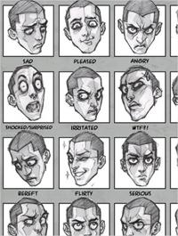 Esquemas para aprender a dibujar expresiones faciales