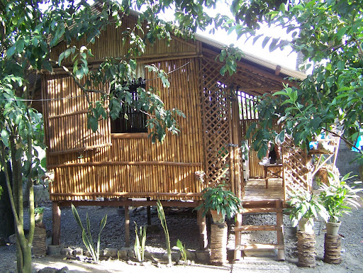 Bamboo house behind Nanang's house