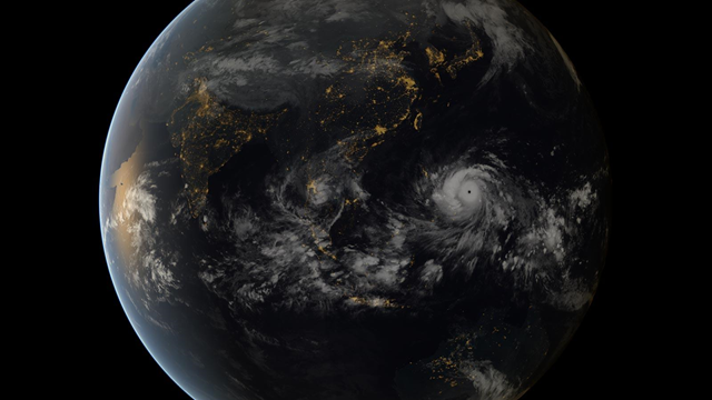 Satellite view of Super Typhoon Haiyan approaching the Philippines on Thursday, 7 November 2013. Photo: EUMETSAT