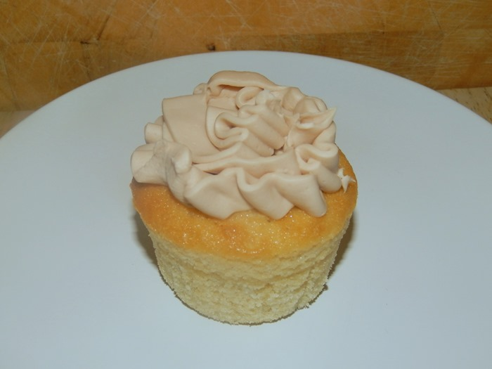 Nutella frosting cupcake