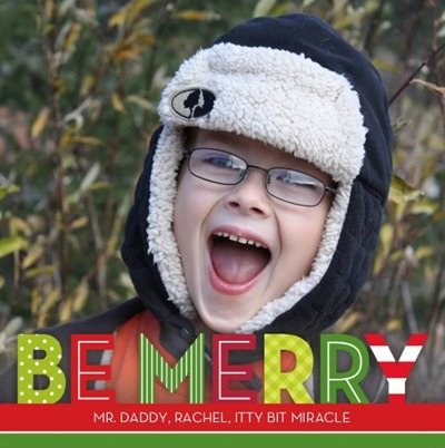 be merry prints Christmas card