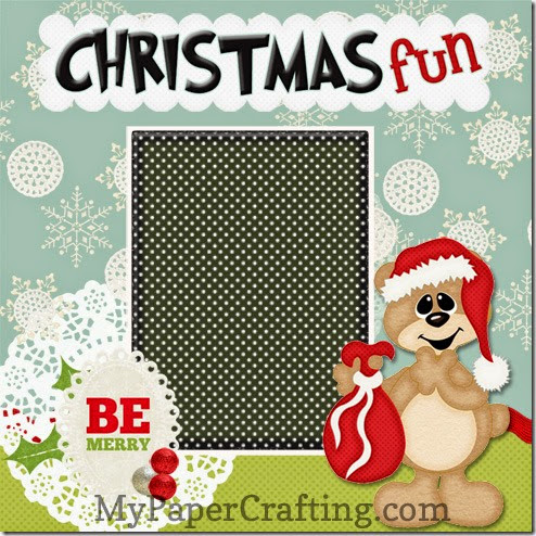 Christmas Fun bear layout-490