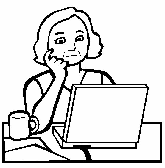 coloring pages of secretaries - photo#22