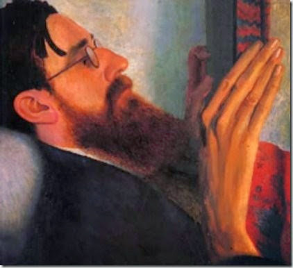 Lytton Strachey by Carrington