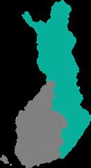 Suomen Yhteisverkko Oy - toiminta-alue vihreällä