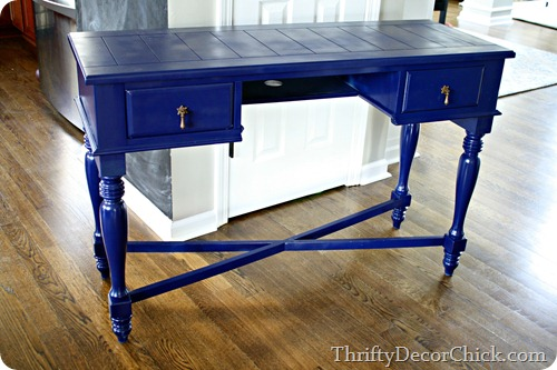 Spray paint blues from thrifty decor chick for Paint office chair