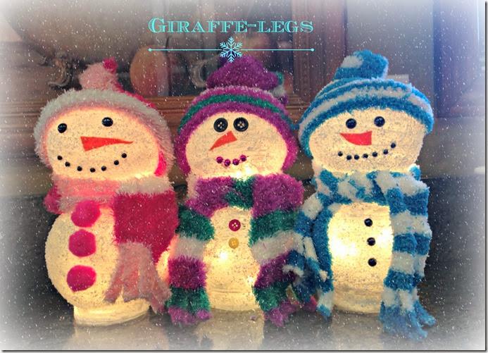 3 snowmen