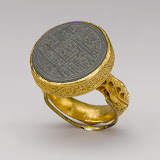 Ring, Timurid period (1370–1507), late 15th–early 16th century Iran Gold, cast and chased; nephrite, carved