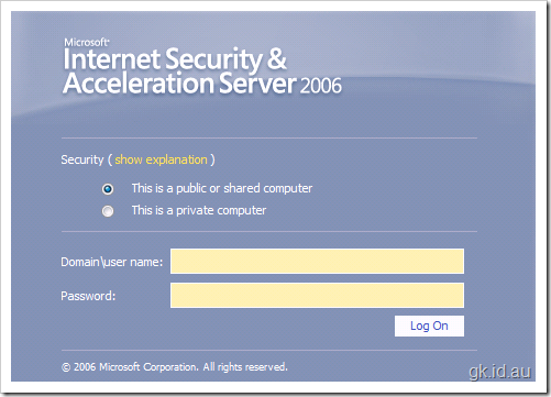 Securing your SharePoint Sites with ISA 2006 using Forms Based Authentication – Part 1/2 sharepoint 2007 sharepoint isa