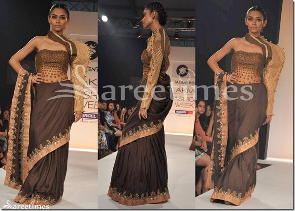 Siyaah_Brown_Saree