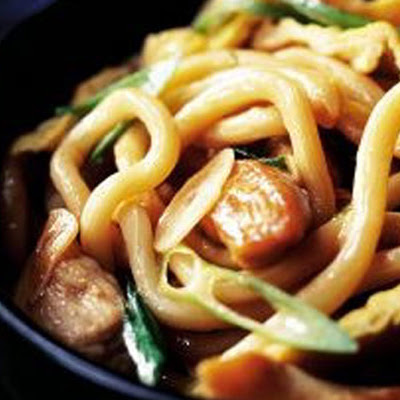 Chicken Noodles With Black Bean Sauce
