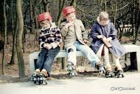 1980. Rolschaatsen op het plein