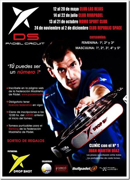 Vuelve el Drop Shot Padel Circuit 2012 con 4 pruebas en la Comunidad de Madrid.