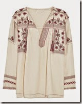 etoile Isobel Marant embroidered peasant top