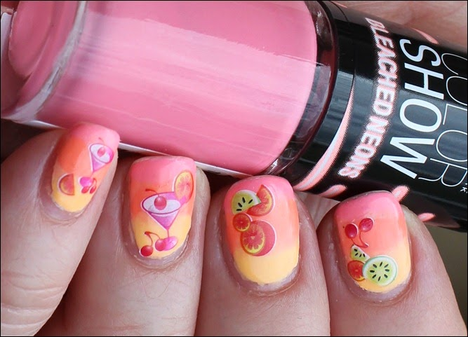 Tropical Island Cocktail Nail Art 4