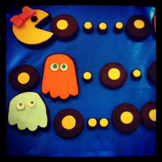 GALLETAS DECORADAS,GALLETAS DE CHOCOLATE, GALLETAS DE MANTEQUILLA, GALLETAS PACMAN, GALLETAS COMECOCOS