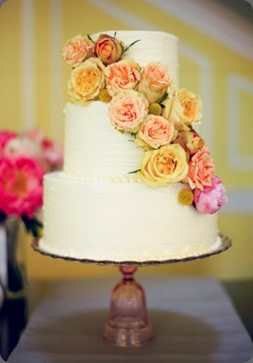 cake austin gros photo and wildflowersinc.com yellowandpinkcascadeflowerwedding-cake