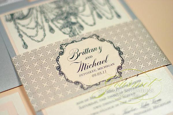 brittany   michael  chandelier invitations