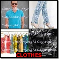 CLOTHES- 4 Pics 1 Word Answers 3 Letters