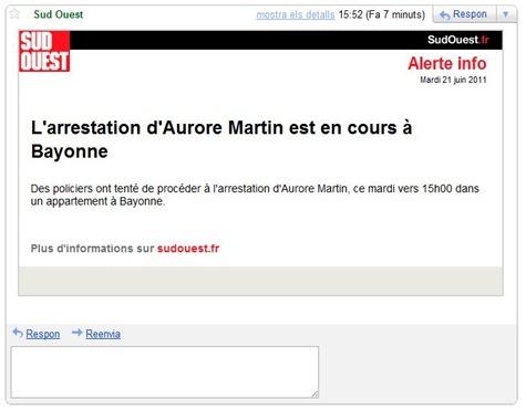 Aurore Martin arrestacion