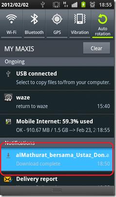 muat-turun m-mathurat APK terus - selesai download