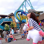 kisses for the Leviathan at Canada's Wonderland in Vaughan, Ontario, Canada