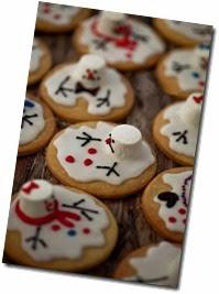 snowmen biscuits