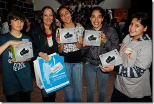 Alumnos ganadores del concurso de Conectar Igualdad