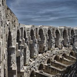 Arles Amphitheatre  by Joyce Chang - Buildings & Architecture Public & Historical ( arles, arena, historical, amphitheatre, chariot race, roman,  )