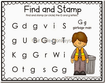 letter G find and stamp