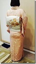 春色のお着物で卒園式に (2)